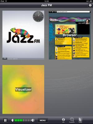 複数iPadの魅力 jazzfmアプリを聴きながら