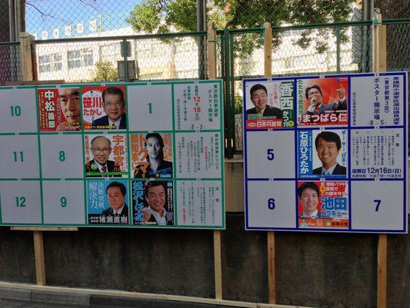 選挙ポスター建てるなら、バラバラでなく一緒に建てればいいのに